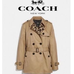Khaki Ocelot Leopard Coach Jacket